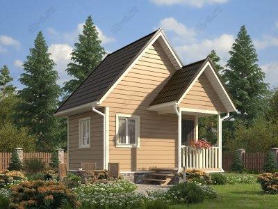 Каркасный дом 5х4 проект К28