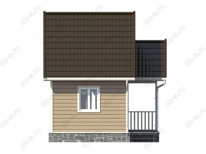 Каркасный дом 5х4 двухскатная крыша