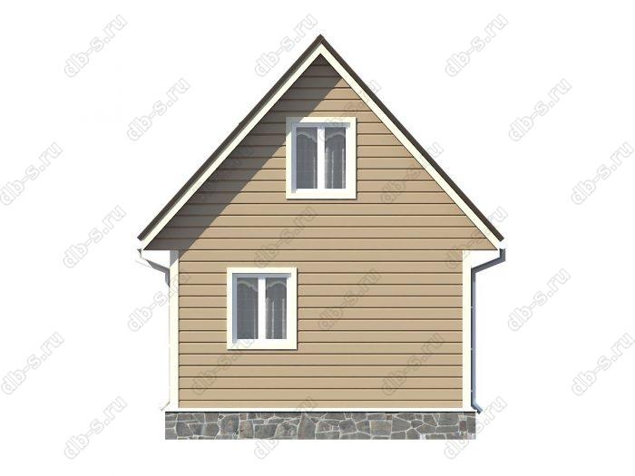 Проект каркасного дома площадью 38кв.м.