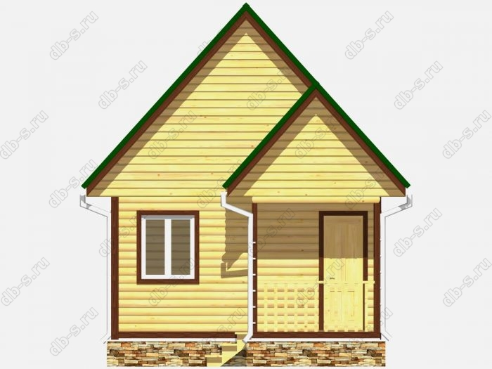 Фото деревянного дома из профилированного бруса под ключ 5 на 4