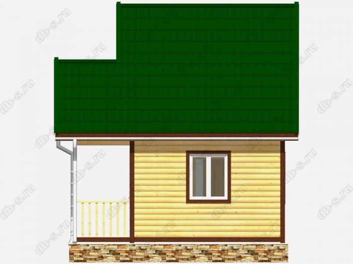 Дом из бруса 5х4 двухскатная крыша