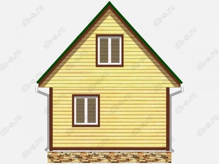 Проект дома из бруса площадью 38кв.м.