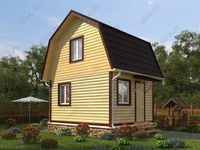 Дом из бруса 5х4 проект Д29