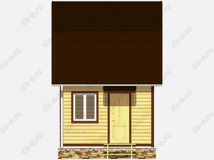Дом из бруса 5х4 ломаная крыша вальмовая крыша