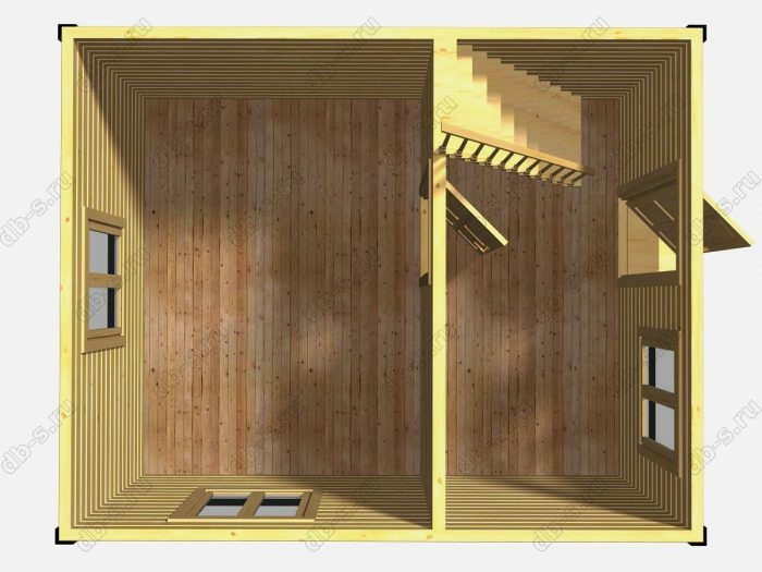 Проект дачного дома 5 на 4