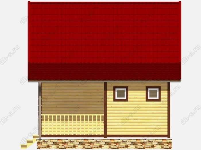 Фото деревянного дома из профилированного бруса под ключ 8 на 6