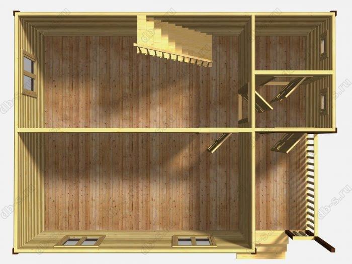 Проект дома для постоянного проживания 8 на 6