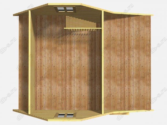 Проект каркасного коттеджа 8х6