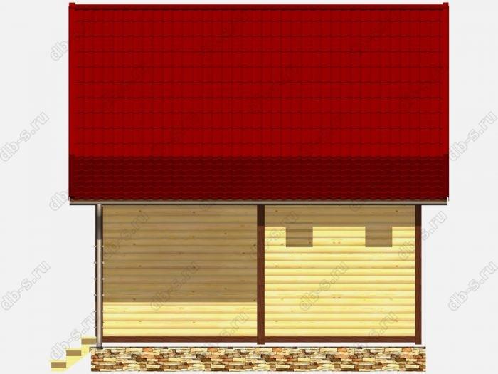 Сруб дома 8х6 терраса (веранда) двухскатная крыша
