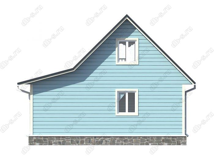 Проект каркасного дома площадью 66кв.м.
