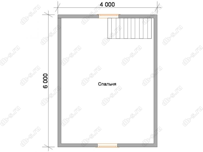 Дом 8 на 6 план мансардного этажа
