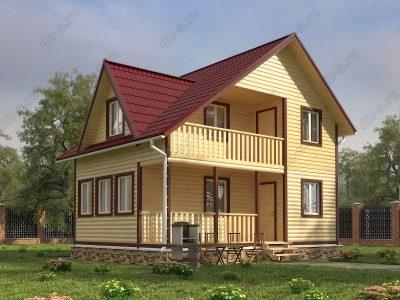 Дом из бруса 6х8 проект Д30