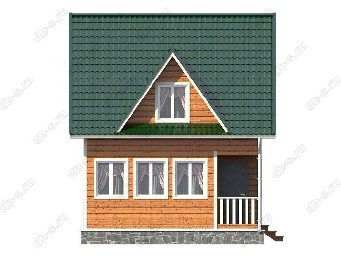 Каркасный дом 6х8 терраса (веранда) балкон двухскатная крыша