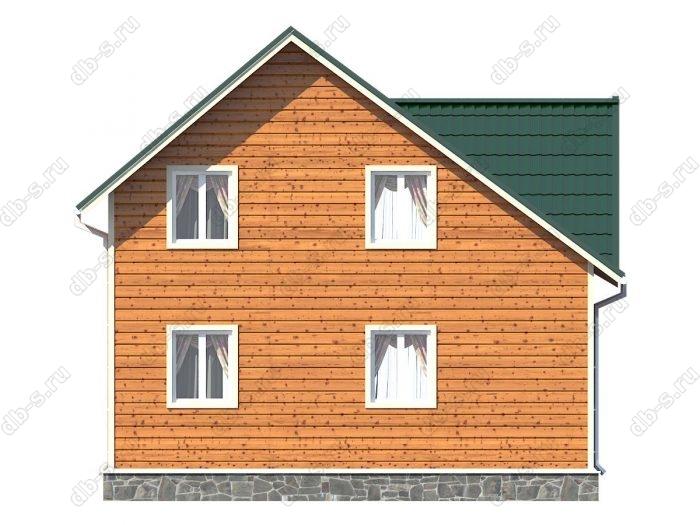 Проект каркасного дома площадью 61кв.м.