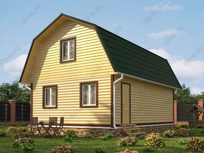 Проект с мансардой 6 на 9 дом из профилированного бруса ломаная крыша вальмовая крыша