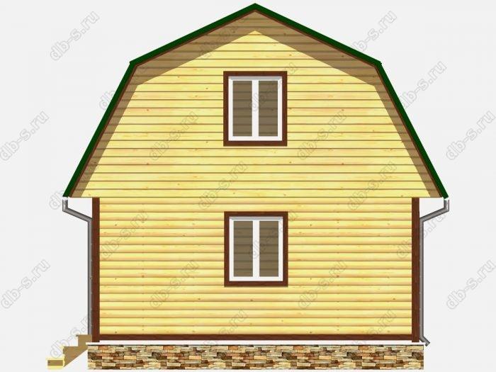 Проект дома из бруса площадью 94.5кв.м.