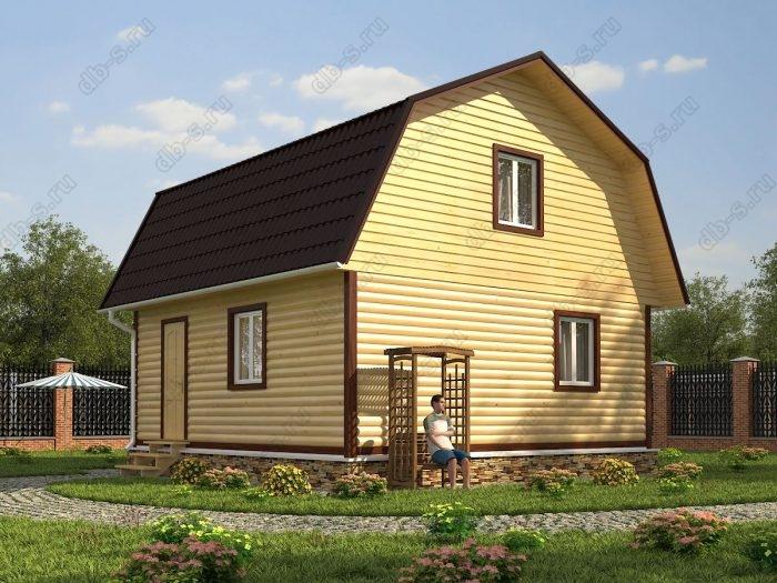 Проект с мансардой 7 на 7 дом из профилированного бруса ломаная крыша вальмовая крыша