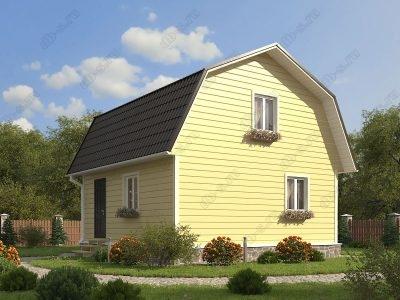 Каркасный дом 7х7 проект К32
