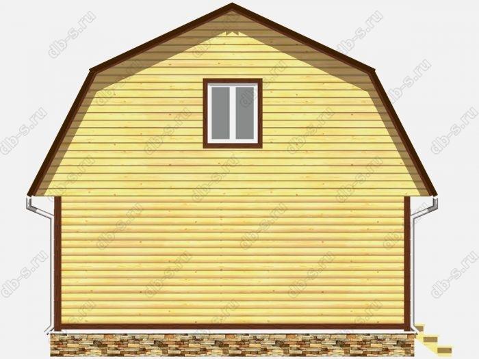 Фото деревянного дома из профилированного бруса под ключ 7 на 7