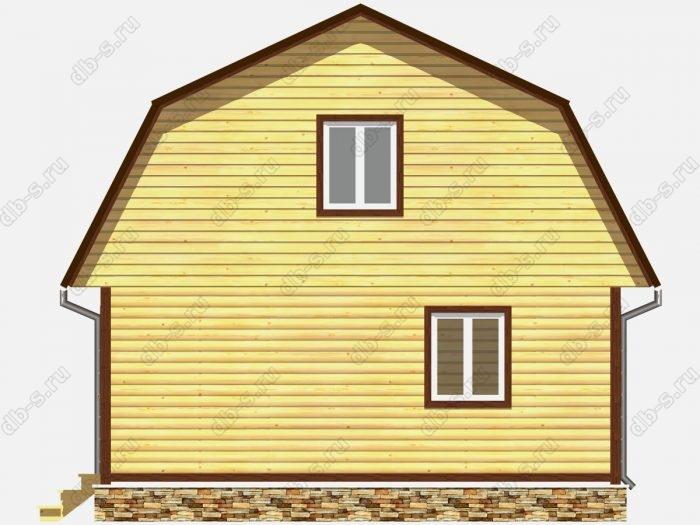 Проект дома из бруса площадью 83.5кв.м.