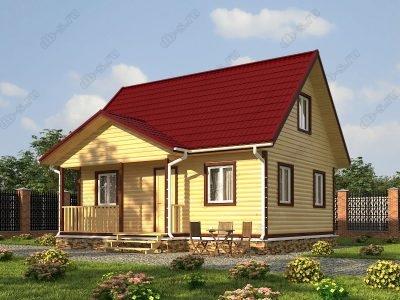Дом из бруса 6х8 проект Д33