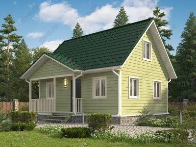 Каркасный дом 6х8 проект К33