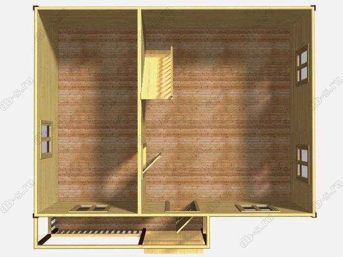 Проект дачного дома 6 на 8