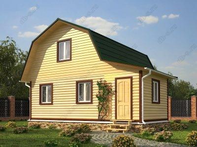 Дом из бруса 6х7 проект Д34