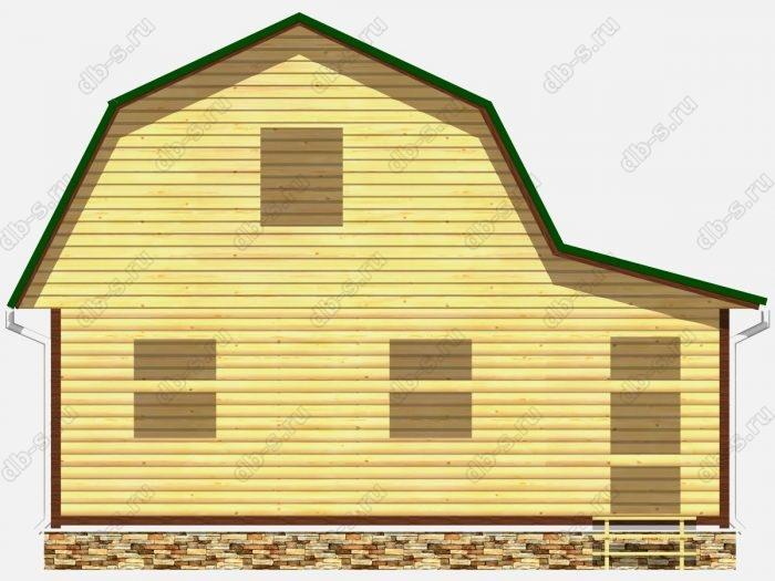 Фото деревянного сруба из бруса 6 на 7