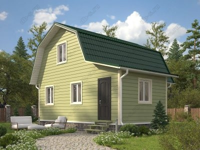 Каркасный дом 6х7 проект К34