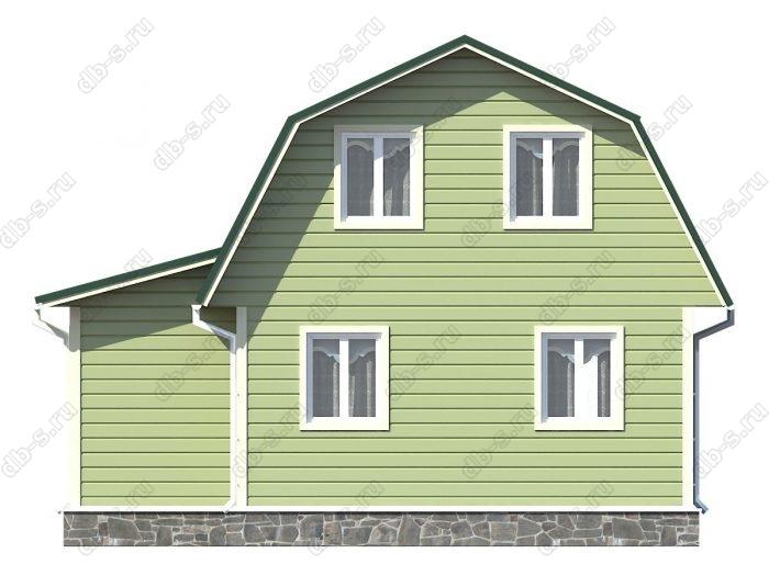 Проект каркасного дома площадью 81.5кв.м.