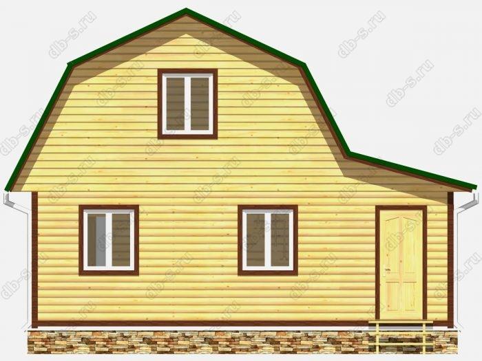 Фото деревянного дома из профилированного бруса под ключ 6 на 7