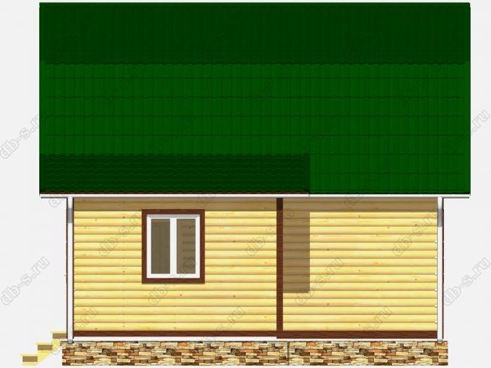 Дом из бруса 6х7 ломаная крыша вальмовая крыша