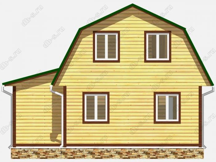 Проект дома из бруса площадью 81.5кв.м.