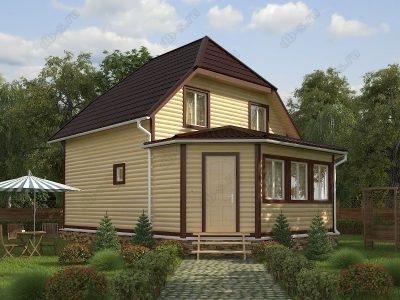 Дом из бруса 7х9 проект Д35