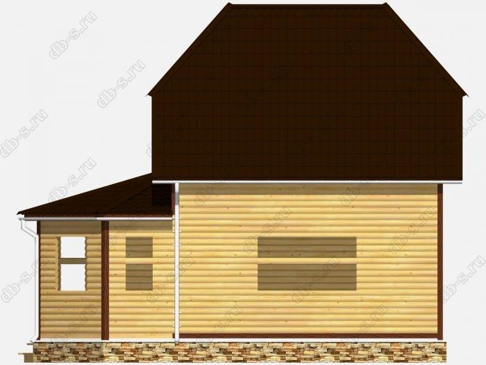 Сруб дома 7х9 двухскатная крыша