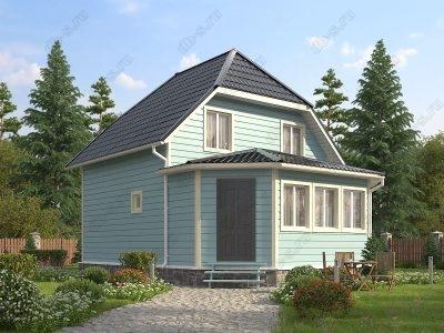 Каркасный дом 7х9 проект К35