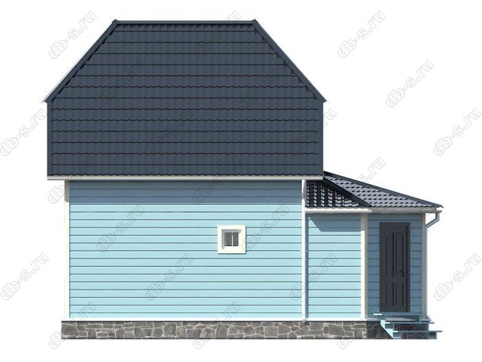 Каркасный дом 7х9 двухскатная крыша