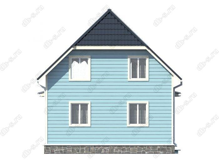 Проект каркасного дома площадью 105кв.м.