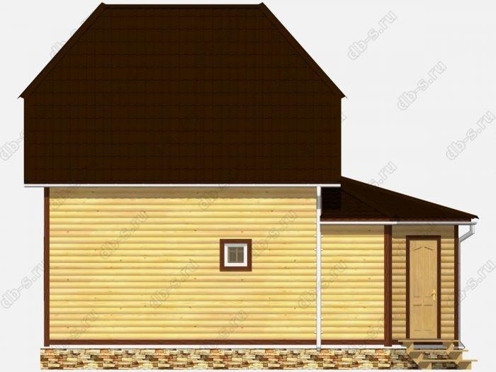 Дом из бруса 7х9 двухскатная крыша
