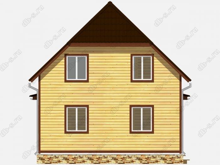 Проект дома из бруса площадью 105кв.м.