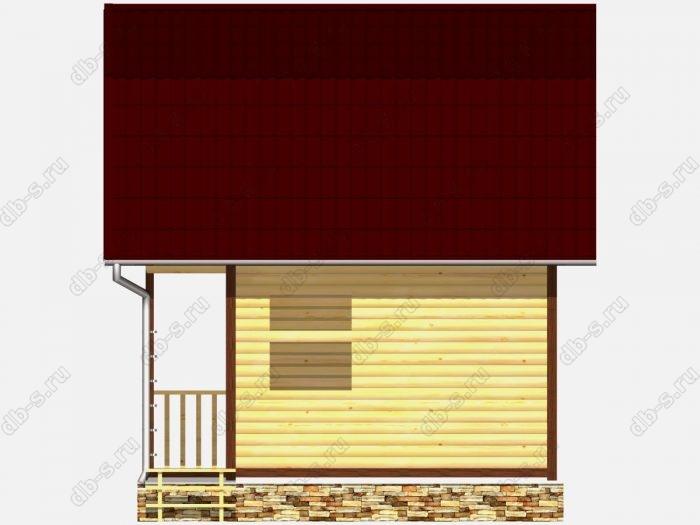 Сруб дома 5х3 терраса (веранда) ломаная крыша вальмовая крыша