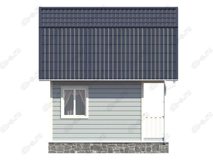 Каркасный дом 5х3 терраса (веранда) ломаная крыша вальмовая крыша