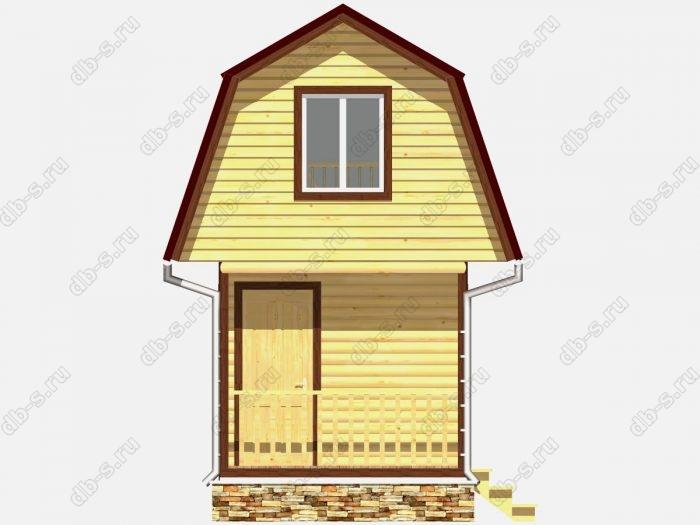 Фото деревянного дома из профилированного бруса под ключ 5 на 3