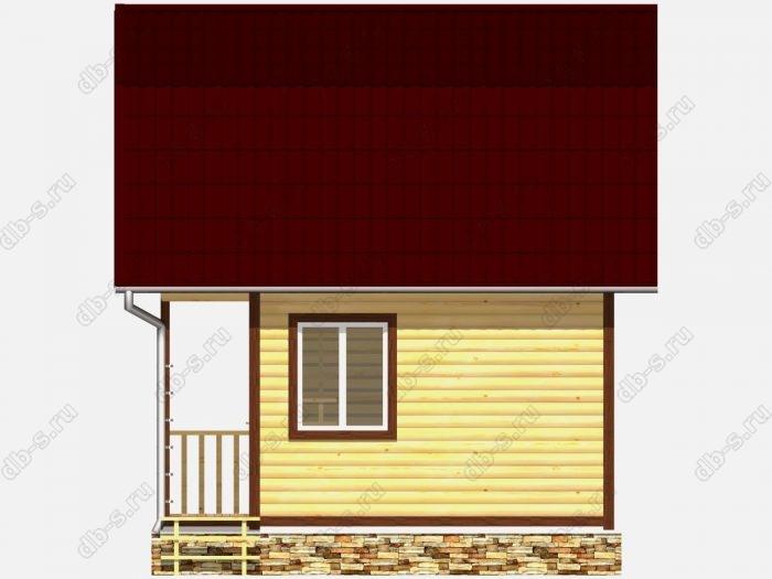 Дом из бруса 5х3 терраса (веранда) ломаная крыша вальмовая крыша