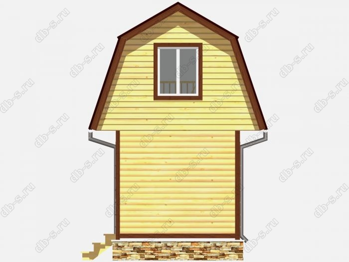 Проект дома из бруса площадью 22кв.м.