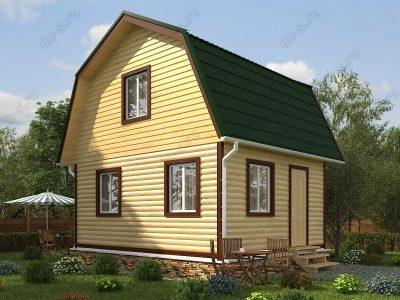 Дом из бруса 6х5 проект Д37