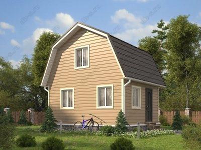 Каркасный дом 6х5 проект К37