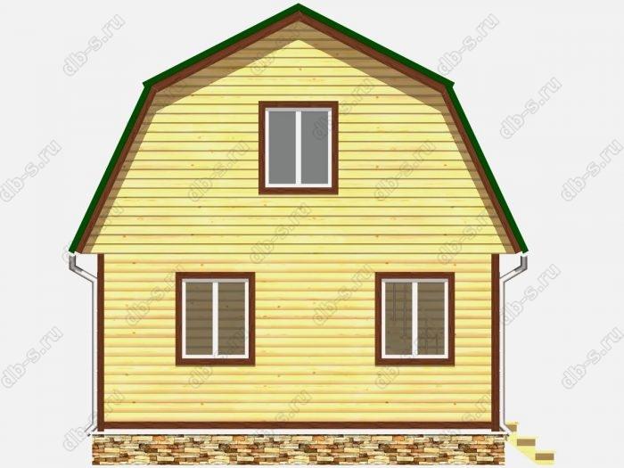 Фото деревянного дома из профилированного бруса под ключ 6 на 5