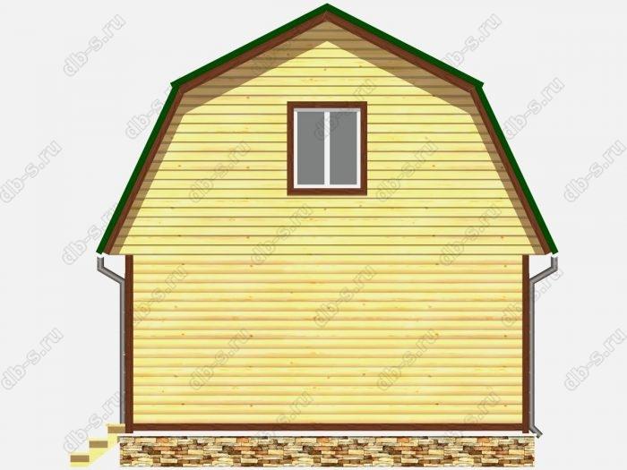 Проект дома из бруса площадью 52.5кв.м.